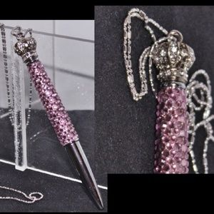 Bling Fit 4 a Queen Swarovski Crystal Pen Necklace